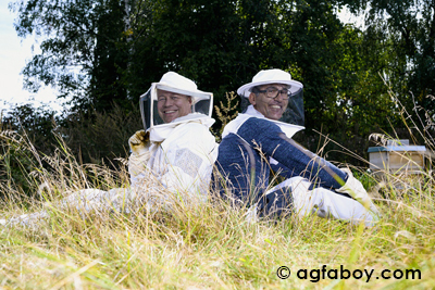 Busy bees, blissful beekeepers