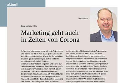Marketing geht auch in Zeiten von Corona – Gastbeitrag in der wirtschaft+weiterbildung, 09/2021